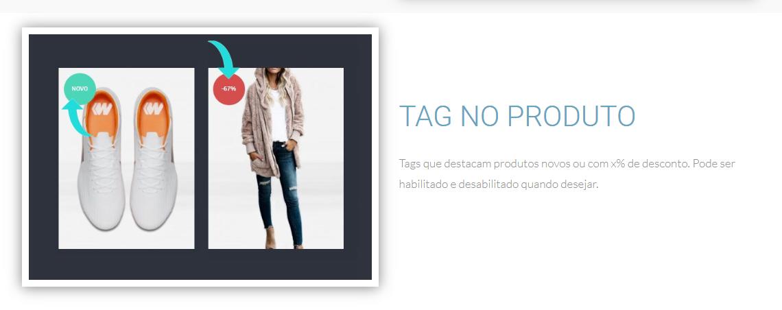 tag produtos